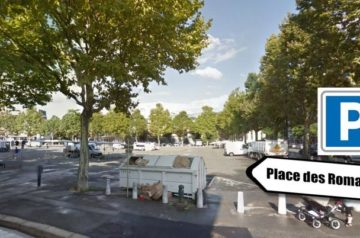 Stationnement parking place des Romains