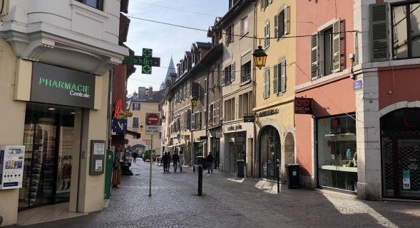 Annecy : Meilleure évolution du centre ville dans la catégorie « Grande ville moyenne »