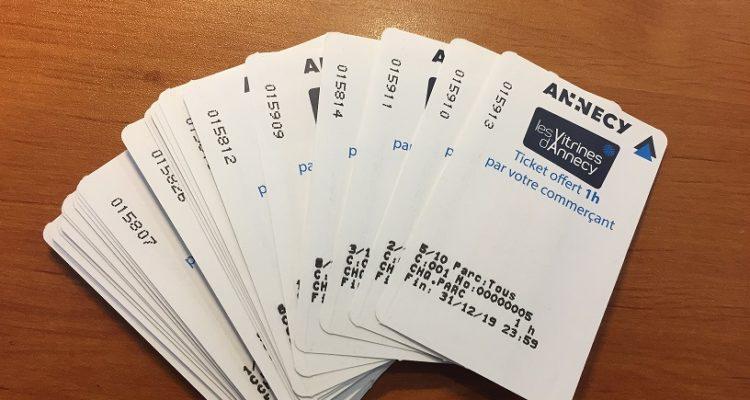 Tickets de parkings « Vitrines d'Annecy »