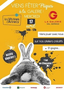 Pâques dans la Galerie Val Semnoz : Mercredi 17 avril !