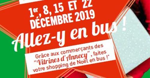 Pendant les week-ends de décembre, venez en bus, le retour est gratuit !
